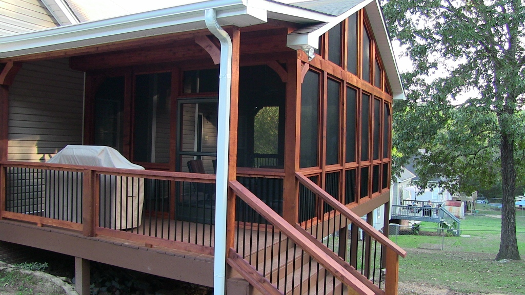 Covered porch gallery home remodeling and additions for How to build a covered deck addition